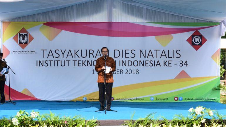 Tasyakuran Dies Natalis Institut Teknologi Indonesia ke 34, 1 Oktober 2018