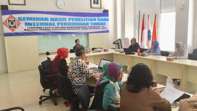 Reviewer pada Seminar Hasil Penelitian Dana Internal ITI, 18 Januari 2019