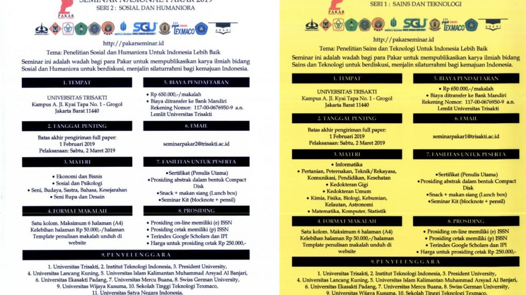 Seminar Nasional Pakar 2019