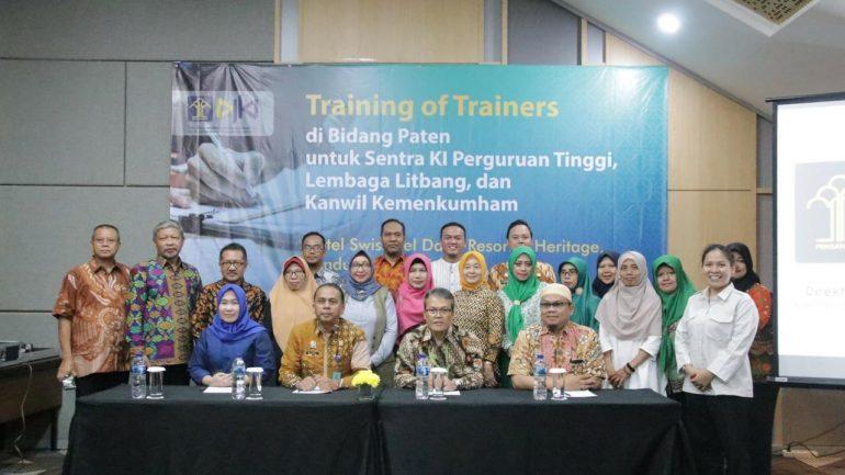 Training of Trainer Bidang Paten untuk Sentra KI Perguruan Tinggi, Lembaga Litbang, dan Kanwil Kemenkumham, 4 dan 5 Juli 2019