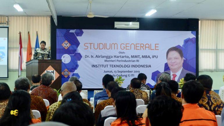 Kuliah Umum oleh Menteri Perindustrian, Dr. Ir. Airlangga Hartarto MMT, MBA, IPU, 13 September 2019