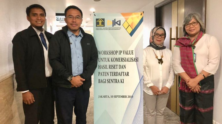 Workshop Intellectual Property Value oleh DJKI Kemenhunkam 10 September 2019
