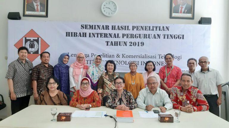 Seminar Hasil Penelitian Hibah Internal ITI, 19 Desember 2019